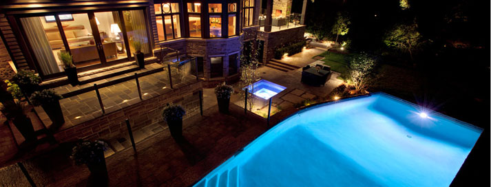 landscape lighting extends the use of property well into the evening